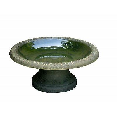 Wildlife World Coniston Garden Bird Bath Recycled Plastic Bowl Aged Stone Finish