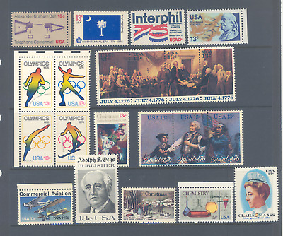 United States Of America 1976 Selection Of Sets Very Fine Mnh