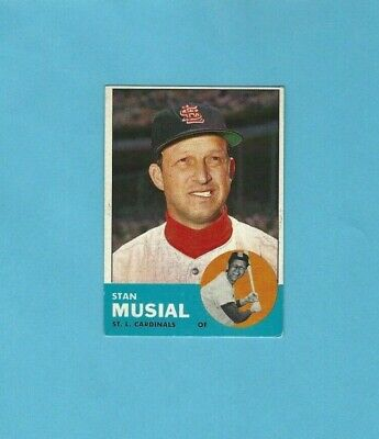 1963 Topps Baseball Peel Off Card Stan Musial St Louis