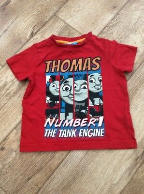 Thomas The Tank Engine Baby Boy 12-18 Months Red Short Sleeve T Shirt No.1 Train