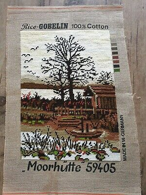 TAPESTRY VINTAGE COMPLETED GOBELIN  100% cotton  Completed