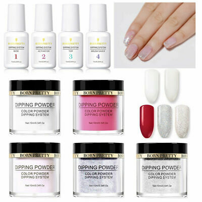 9Bottles/Set BORN PRETTY Dipping Powder Liquid Long Lasting Nail Art Starter Kit