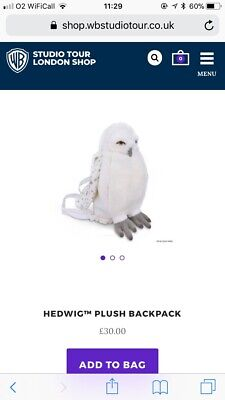 official Harry Potter tour hedwig plush backpack