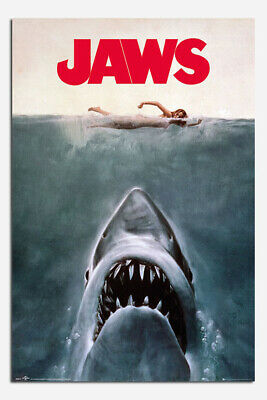 Laminated Jaws Movie Poster Official New 24 x 36