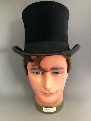 Antique Christys of London black top hat Ventilating and Easy Fitting