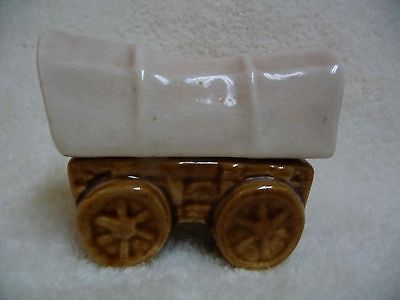 VINTAGE  Ceramic Covered Wagon Salt and Pepper Shakers - Never Used
