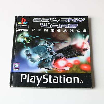 Instruction Manual For Ps1 Playstation Psone Colony Wars Vengeance Game