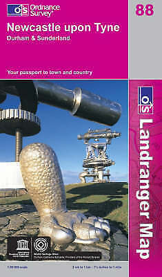 Ordnance Survey Newcastle Upon Tyne, Durham & Sunderland (OS Map)