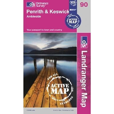 Ordnance Survey Lake District Penrith, Keswick & Ambleside OS (Active Map)