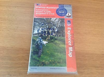 Ordnance Survey Bishop Auckland (Sheet Folded Active Explorer Map)