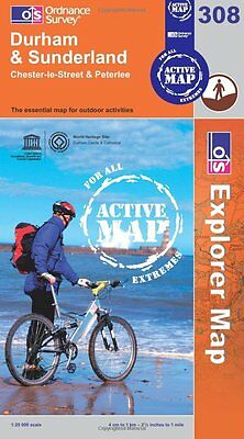 Ordnance Survey Durham and Sunderland (Explorer Active Map)