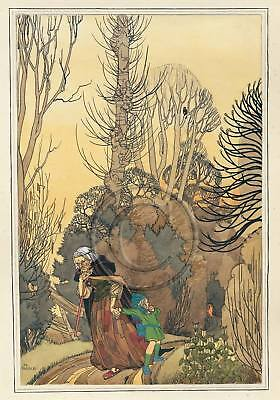 Hansel and Gretel, Fairytale, Grimm, 1920s, A3 Poster Print