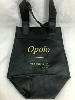 Totes TWO Wine Bag Carrier Reusable Cloth Each holds 6 bottles Winery OPOLO