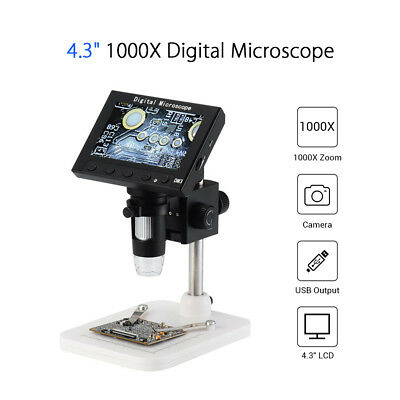 8-LED Adjustable USB 1000X Zoom Digital Microscope Magnifier For PCB Repairing