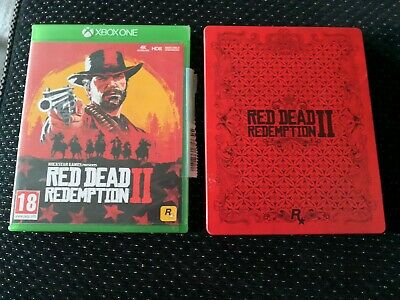 Red Dead Redemption 2 game xbox one With collectable Metal Box