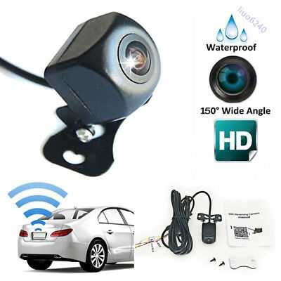 New 150°WiFi Wireless Car Rear View Cam Backup Reverse Camera for Android Ios
