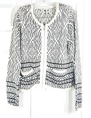 8d0c706bd53 TSE CREAM OFF-WHITE Cotton Chunky Knit Oversized Zip-Up Cardigan ...