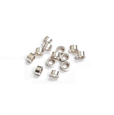 925 Sterling Silver Crimp Tube  Beads,2mmx1mm