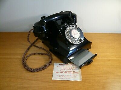 Beautiful vintage GPO 3 series bakelite telephone with drawer - EXCELLENT cond