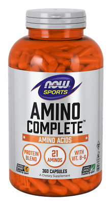 NOW FOODS SPORT Amino Complete (Amino Acids + Protein) 360 caps SHIPPING WORLDWI