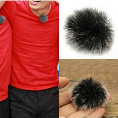 US Fur Microphone Mic Windscreen Windshield Wind Muff For Lapel Microphone 7-8mm
