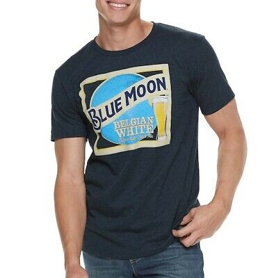 Official Licensed Product Blue Moon Belgian White Beer  Navy T-Shirt Bnwt