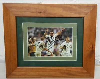 Rugby Union Picture Moment of Victory Autographed by Martin Johnson