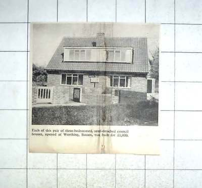 1958 3 Bedroom Semi-detached Council Houses Worthing Built For £1,000
