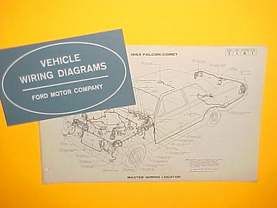1963 Ford Falcon Futura Ranchero Mercury Comet Factory Original Wiring Diagrams