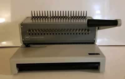 GBC CombBind C250 Manual Binding Machine Spine/Combs included