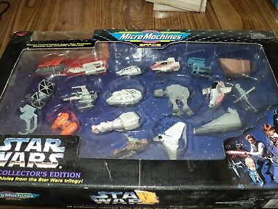 STAR WARS Galoob Micro Machines SPACE-19 Vehicles from Trilogy (1994) in Box