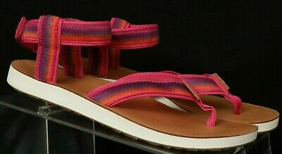 3c541320fb4f Teva Original Ombre 1010329 Pink Ankle Strap Casual Thong Sandals Women s  ...