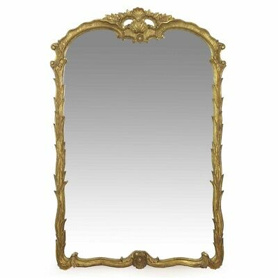 VINTAGE WALL MIRROR | French Antique Louis XV Rococo Carved Giltwood Pier Mirror