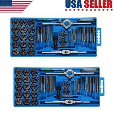 TAP AND DIE Set 80 piece SAE & METRIC w/Case Screw Extractor Remover Chasing