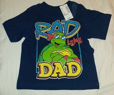 Nwt The Children's Place Boys 9-12 Months Tmnt Blue Rad Like Dad Blue S/s Shirt