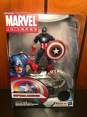 Marvel Universe Comic Series Light Up Base Captain America Toys R Us Exclusive