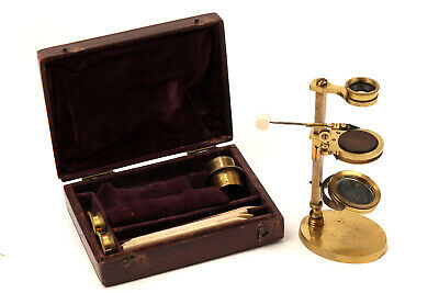 A Brass Jones Botanical-Type Simple Microscope