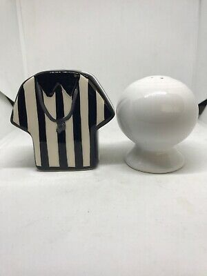 Fiestaware White Ball & Referee Shirt Salt and Pepper shakers