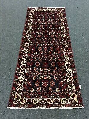 On Sale Beautiful Hand Knotted Persian Geometric Rug Runner Carpet 3x7,2'8'x6'6""