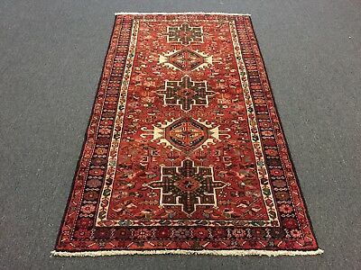 "On Sale Great Hand Knotted Persian Gharajeh Geometric Rug Runner Carpet 3'6""x6'4"