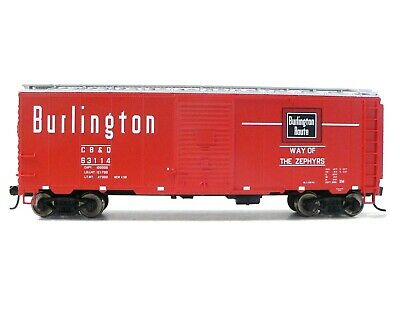 HO Scale Model Railroad Trains Walthers Mainline Burlington Route Boxcar 63114