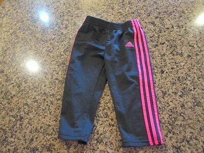 Adidas black Pink Jogger Sweat Pants girls toddler 24 M track fitness workout