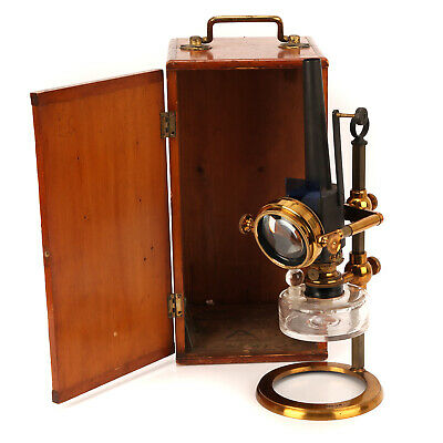 Watsons & Sons Microscope Oil Lamp with A Nelson Aplanatic Bull's-eye
