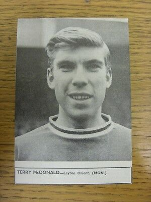 """28/07/1962 Soccer Star Magazine: Cut-Out - Leyton Orient - McDonald, Terry (3½"""""""