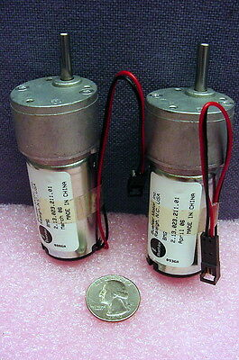 Pair Of New, Unused Buehler Dc Compact Gearmotors W/Offset Gearhead, Flat Shaft