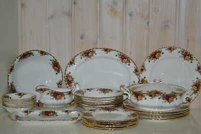 Royal Albert-Bone China-England-Old Country Roses-Speiseservice/Tafelservice-Top