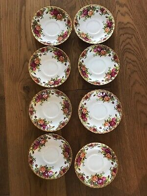 8 Royal Albert Old Country Roses Saucers