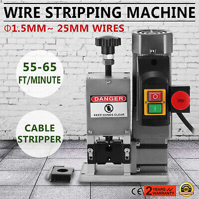 Powered Electric Wire Stripping Machine 1.5-25mm Stripper Peeling Durable HOT
