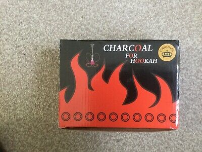 100 Shisha Charcoal Hookah Coal Disc Quick Instant Light Burn Incense BBQ Flame.