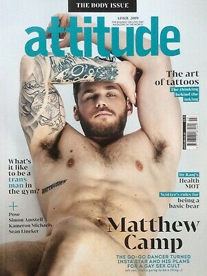 Attitude Magazine April 2019 Issue 307 *GT Gaytimes Gay